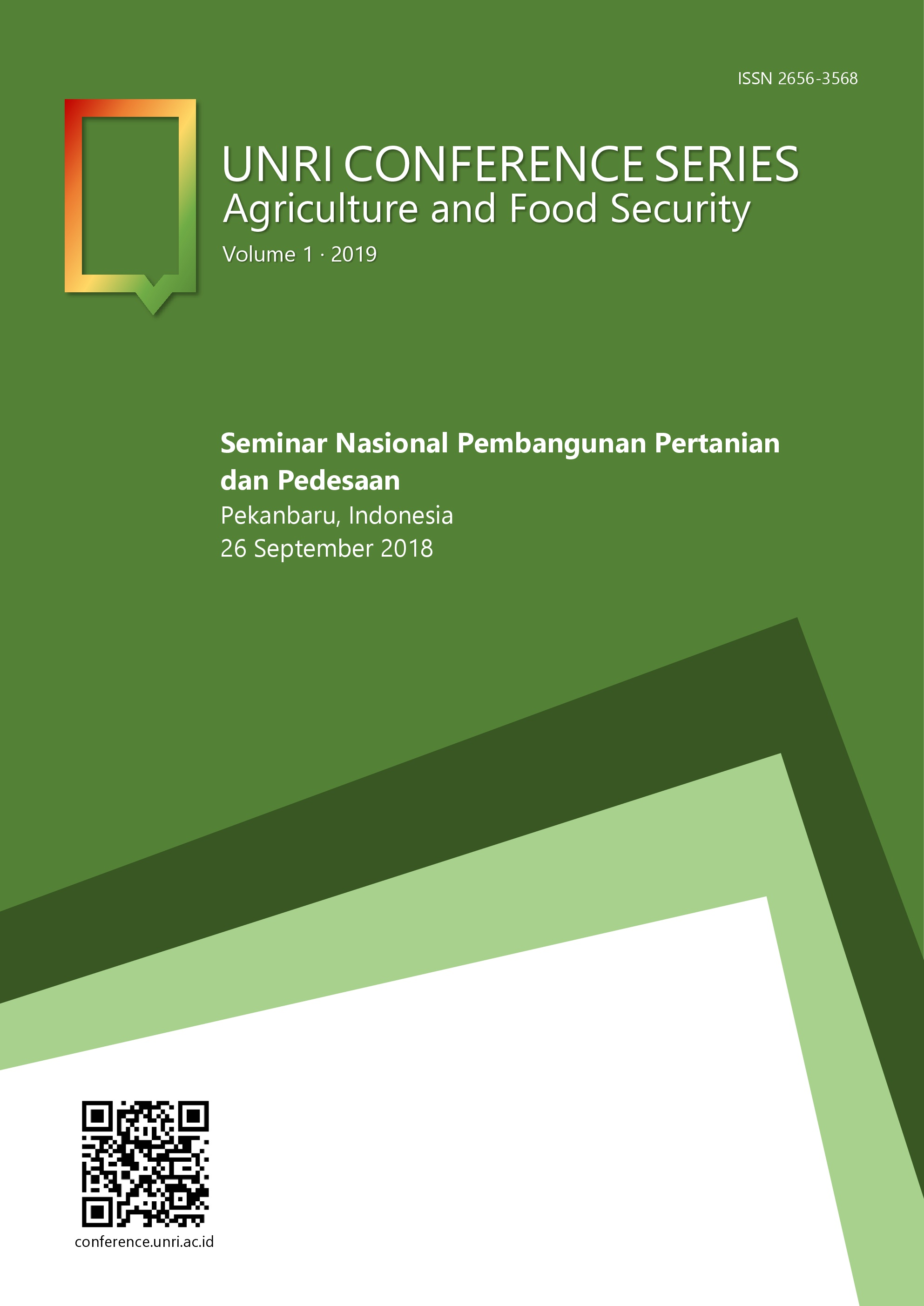 Unri Conference Series: Agriculture and Food Security. Volume 1